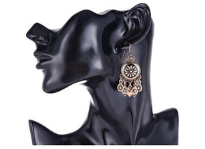 Jodhpur Silver Crystal Earring - Tusker Clothing