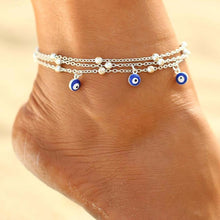 Turkish Eyes Beads Multilayer Anklets