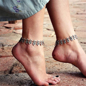 Antique Silver Ethnic Indian Foot Anklets/Bracelet - Tusker Clothing