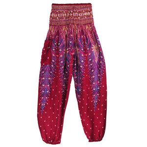 Simha Asana Wine Harem Pants - Tusker Clothing