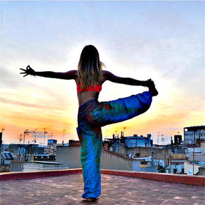 Simha Asana Lake Green Harem Pants - Tusker Clothing