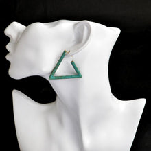 Geometric Opening Triangle Stud Earrings - Tusker Clothing