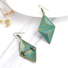 Bronze Rhombic Triangular Earrings - Tusker Clothing