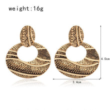 Hollow Round Large Earring - Tusker Clothing