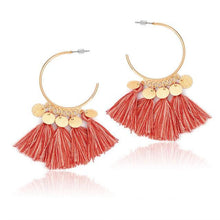 Bohemia Multicolor Tassels Drop Earrings - Tusker Clothing
