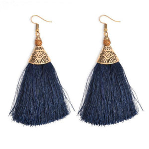Yuva Woolen Drop Ethnic Earrings - Tusker Clothing