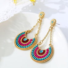 Bohemia Brincos Colorful Crystal Earring - Tusker Clothing