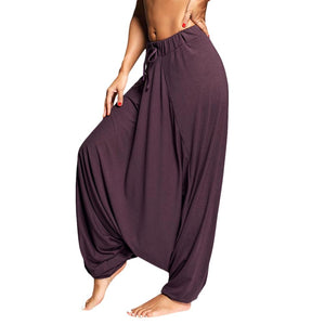 Trikon Asana Purple Harem Pants - Tusker Clothing