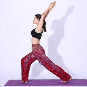 Simha Asana Purple Harem Pants - Tusker Clothing