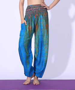 Simha Asana Lake Blue Harem Pants - Tusker Clothing