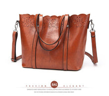 Henna Patterned Leather Tote Bag - Tusker Clothing