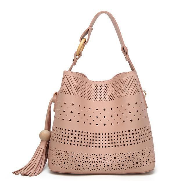 Henna Styled Hollow Leather Tote Bag - Tusker Clothing