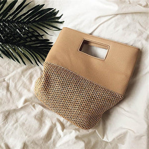Woven Straw Mesh Hand Bag - Tusker Clothing