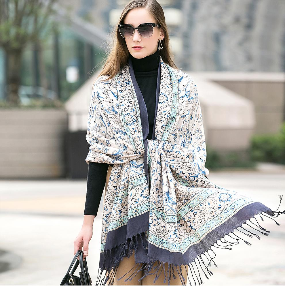 Trendy Indian Cashmere Wool Scarf Shawl - Tusker Clothing