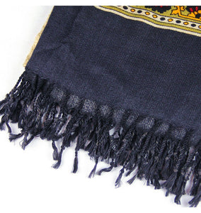 Ethnic Vivid Indian Royal Wool Body Scarf Shawl - Tusker Clothing