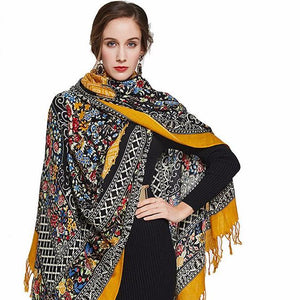 Trendy Bengali Plush Wool Shawl Scarf - Tusker Clothing