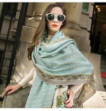 Traditional Indian Dalhousie Winter Cashmere Wool Scarf Shawl - Tusker Clothing
