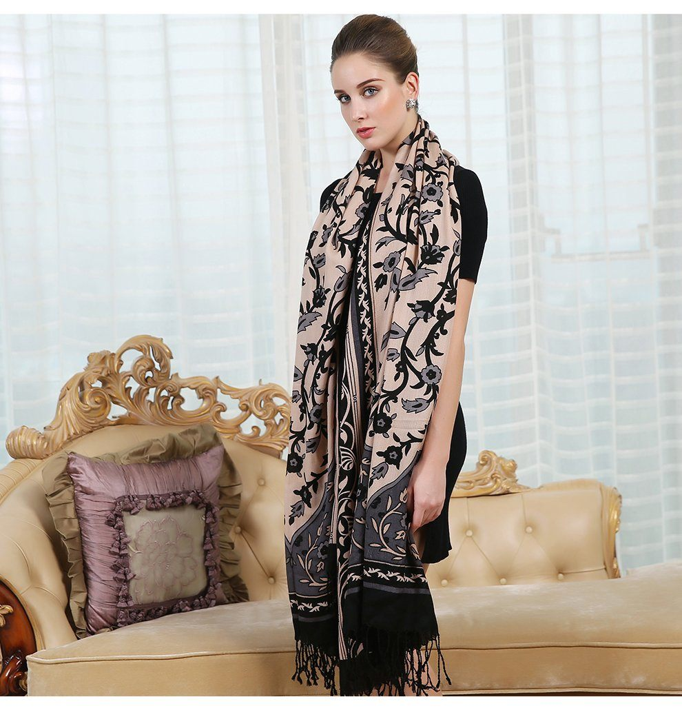 Traditional Indian Shimla Winter Soft Wool Scarf Shawl - Tusker Clothing
