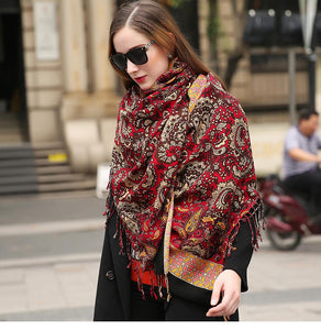 Ethnic Indian Fashion Kashmiri Soft Wool Scarf Shawl - Tusker Clothing
