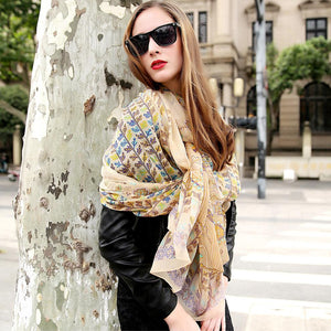 Trendy Boho Thin Touch Silk Shawl Scarf - Tusker Clothing