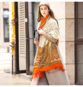 Ethnic Himalayan Soft Wool Novelty Scarf Shawl - Tusker Clothing