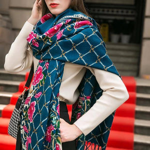 Colorful Traditional Indian Mumbai Wool Body Scarf Shawl - Tusker Clothing