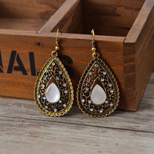 Bohemian Crystals Drop Earrings