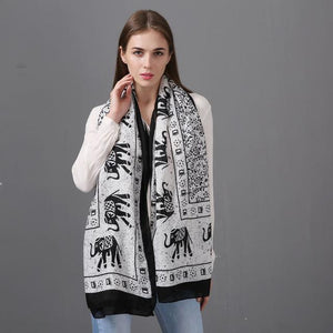 Kerela Elephant Ultra Thin Body Scarf Shawl