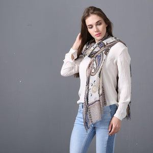 Trendy Chic Hyderabad Lady Satin Scarf Shawl - Tusker Clothing