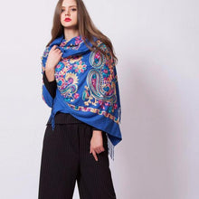 Ethnic Floral Cotton Scarf Shawl - Tusker Clothing