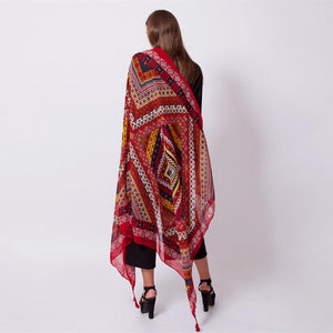 Ethnic Indian Kolkata Lady Acrylic Body Scarf Shawl - Tusker Clothing