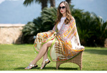 Bohemian Printed Soft Silk Scarf Shawl - Tusker Clothing