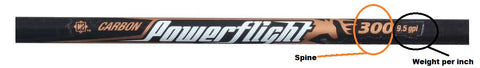 easton powerflight shaft spine 300