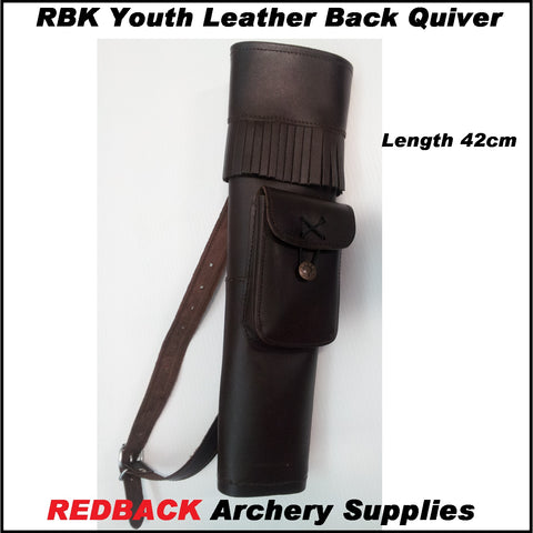 RBK Junior Leather Back Quiver Brown
