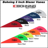 Bohning 2 inch blazer vanes 36 pack all colours