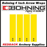 12 Bohning 4 inch Arrow wraps
