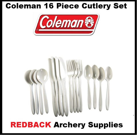 coleman camping cutlery set