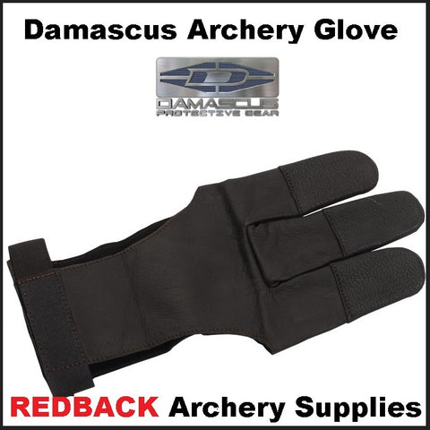 Damascus archery three finger glove