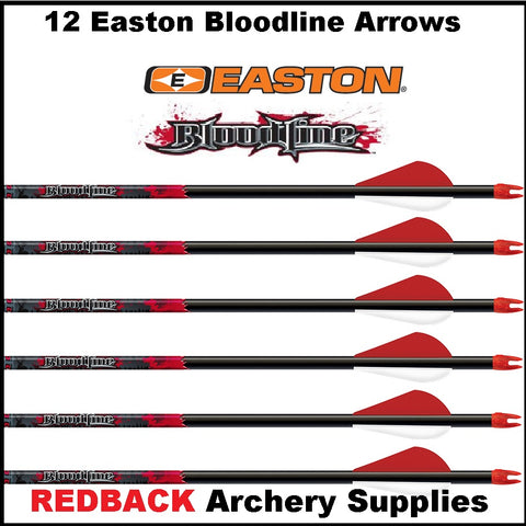 1 dozen easton bloodline arrows made up