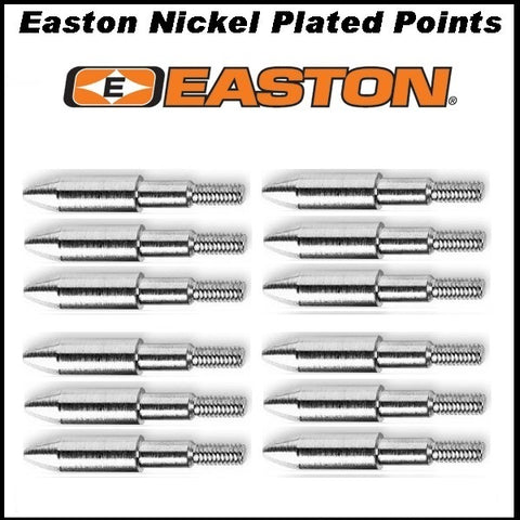 Easton Nickel plated practice target arrow points