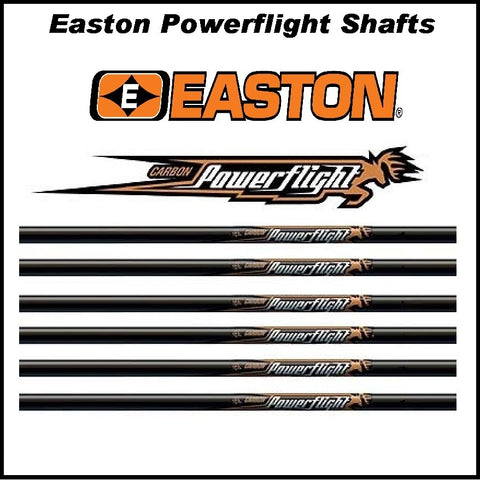 60 Easton Powerflight Shafts bulk pack
