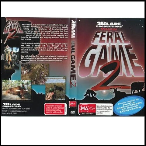 Feral Game 2 Bowhunting DVD 2 disc set
