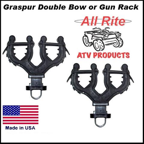 Double bow and gun rack for All terrain veichle atv