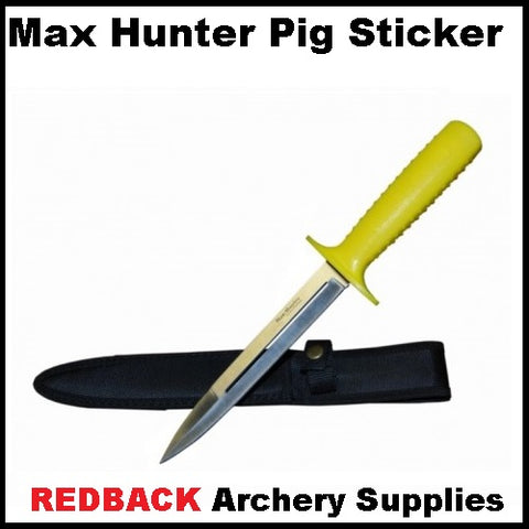 max hunter pig sticker knife