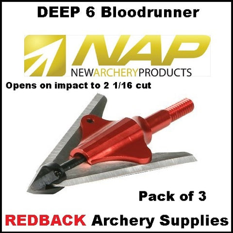 NAP Bloodrunner Deer Six 3 pack 100 grain