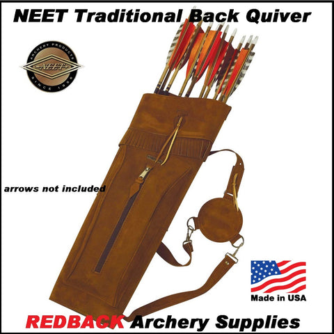 NEET Traditional back quiver leather