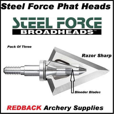 Steel Force Phat Heads 125 grain razor sharp the best