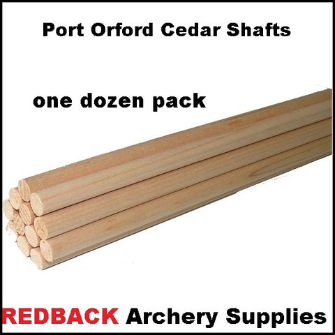 POC wooden arrow shafts port orford cedar