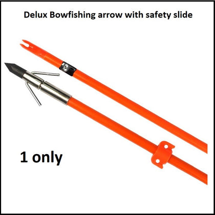bowfishing arrow with safety slide