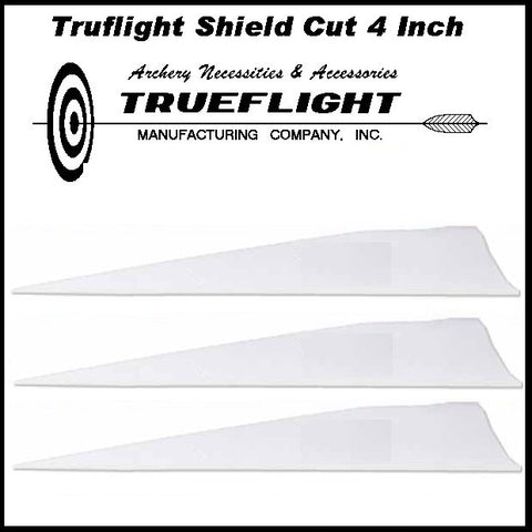 Truflight 4 inch Shield Feathers 25pk